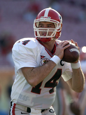 Georgia quarterback  David Greene warms up at the 2005 Outback Bowl January 1, 2005 at Raymond James Stadium, Tampa, Florida.  Georgia defeated Wisconsin 24 - 21. (Photo by A. Messerschmidt/Getty Images) *** Local Caption ***