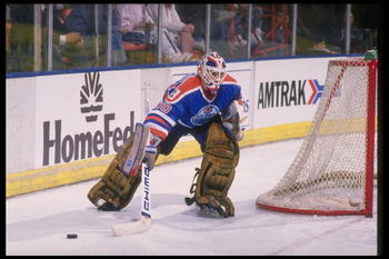 1988-1989:  Goaltender Bill Ranford of the Edmonton Oilers. Mandatory Credit: Mike Powell  /Allsport
