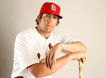 JUPITER, FL - FEBRUARY 24: Colby Rasmus #28 of the St. Louis Cardinals poses for a portrait during Photo Day at Roger Dean Stadium on February 24, 2011 in Jupiter, Florida.  (Photo by Mike Ehrmann/Getty Images)