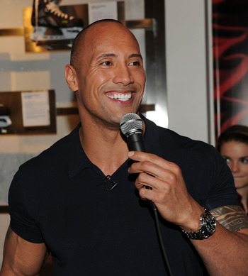 NEW YORK - JANUARY 20:  Actor Dwayne Johnson attends the NHL Powered by Reebok Store to promote 'Tooth Fairy' on January 20, 2010 in New York City.  (Photo by Stephen Lovekin/Getty Images)