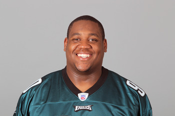 PHILADELPHIA, PA - APRIL 29: In this 2010 photo provided by the NFL, King Dunlap of the Philadelphia Eagles poses for an NFL headshot on Thursday, April 29, 2010 in Philadelphia, Pennsylvania. (Photo by NFL via Getty Images)