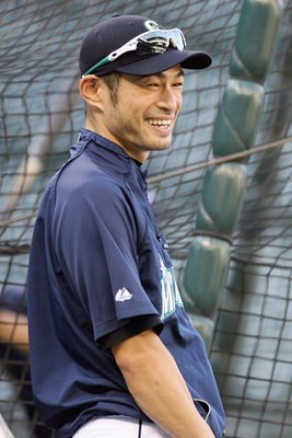 SEATTLE - SEPTEMBER 18:  Ichiro Suzuki #51of the Seattle Mariners laughs during practice before the game against the New York Yankees on September 18, 2009 at Safeco Field in Seattle, Washington. (Photo by Otto Greule Jr/Getty Images)