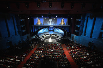 MONACO - AUGUST 26:  General view during the UEFA Champions League Group Stage draw at the Grimaldi Forum on August 26, 2010 in Monaco, Monaco.  (Photo by Michael Steele/Getty Images)