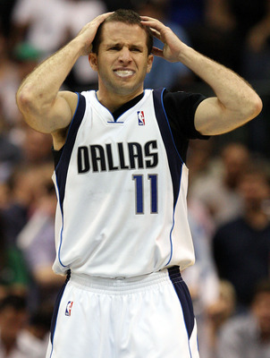 DALLAS - MAY 11:  Guard Jose Juan Barea #11 of the Dallas Mavericks reacts during play with the Denver Nuggets in Game Four of the Western Conference Semifinals during the 2009 NBA Playoffs at American Airlines Center on May 11, 2009 in Dallas, Texas. NOT