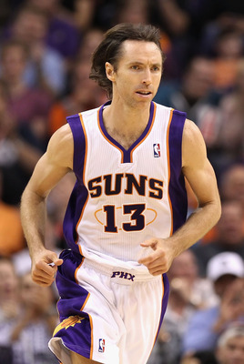PHOENIX, AZ - MARCH 27:  Steve Nash #13 of the Phoenix Suns during the NBA game against the Dallas Mavericks at US Airways Center on March 27, 2011 in Phoenix, Arizona.  The Mavericks defeated the Suns 91-83.  NOTE TO USER: User expressly acknowledges and