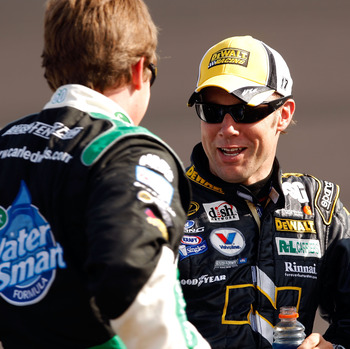 There is no doubt who would win a cage match between Matt Kenseth and Carl Edwards.
