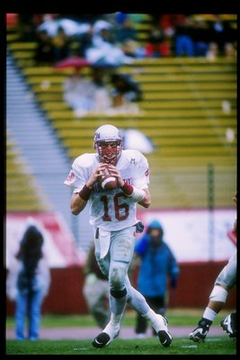 16 Nov 1996:  Quarterback Ryan Leaf of the Washington State Cougars prepares to throw the ball during a game against the Stanford Cardinal at Stanford Stadium in Stanford, California.  Stanford won the game 33-17. Mandatory Credit: Otto Greule  /Allsport