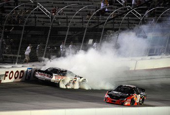 Kyle Busch and Brad Keselowski heated up over this incident in 2010.  It isn't over.