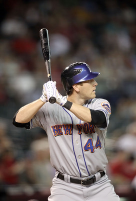 PHOENIX - JULY 20:  Jason Bay #44 of the New York Mets bats against the Arizona Diamondbacks during the Major League Baseball game at Chase Field on July 20, 2010 in Phoenix, Arizona.  (Photo by Christian Petersen/Getty Images)