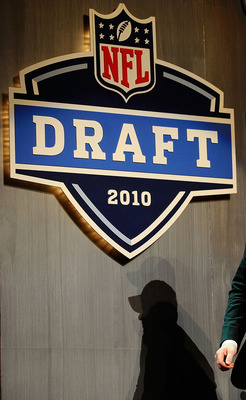 NEW YORK - APRIL 22:  Bryan Bulaga from the Iowa Hawkeyes walks out on stage after the Green Bay Packers drafted him number 23 overall during the first round of the 2010 NFL Draft at Radio City Music Hall on April 22, 2010 in New York City.  (Photo by Jef