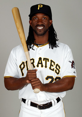 BRADENTON, FL - FEBRUARY 20:  Outfielder Andrew McCutchen #22 of the Pittsburgh Pirates poses for a photo during photo day at Pirate City on February 20, 2011 in Bradenton, Florida.  (Photo by J. Meric/Getty Images)