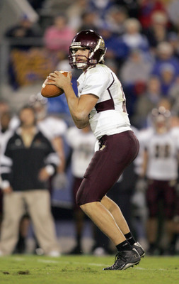 LEXINGTON, KY - SEPTEMBER 30:  Quarterback Dan LeFevour #13 of the Central Michigan Chippewas looks to pass the ball during the game against the Kentucky Wildcats on September 30, 2006 at Commonwealth Stadium in Lexington, Kentucky. (Photo by Andy Lyons/G
