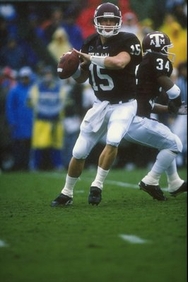 14 Nov 1998:  Quarterback Randy McCown #15 of the Texas A&M Aggies in action during the game against the Missouri Tigers at Kyle Field in College Station, Texas. The Aggies defeated the Tigers 17-14.
