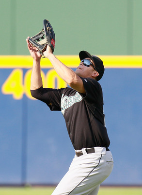 ATLANTA - SEPTEMBER 29:  Mike Stanton #27 of the Florida Marlins against the Atlanta Braves at Turner Field on September 29, 2010 in Atlanta, Georgia.  (Photo by Kevin C. Cox/Getty Images)