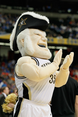 ATLANTA, GA - MARCH 12:  The Vanderbilt University Commodores mascot Mr. C. entertains the fans during their game against the Florida Gators in  the semifinals of the SEC Men's Basketball Tournament at Georgia Dome on March 12, 2011 in Atlanta, Georgia.
