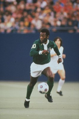 Undated:  Pele of New York Cosmos in action during an American Soccer League match in the USA. \ Mandatory Credit: Allsport UK /Allsport