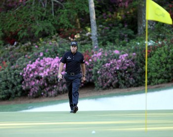 AUGUSTA, GA - APRIL 11:  Phil Mickelson during the final round of the 2010 Masters Tournament at Augusta National Golf Club on April 11, 2010 in Augusta, Georgia.  (Photo by Streeter Lecka/Getty Images for Golf Week)