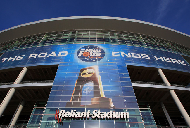 HOUSTON, TX - MARCH 31:  A general view of the exterior of Reliant Stadium leading up to the NCAA Men's Basketball Final Four on March 31, 2011 in Houston, Texas. The Final Four will be played on April 2, 2011 as the Virginia Commonwealth Rams will take o