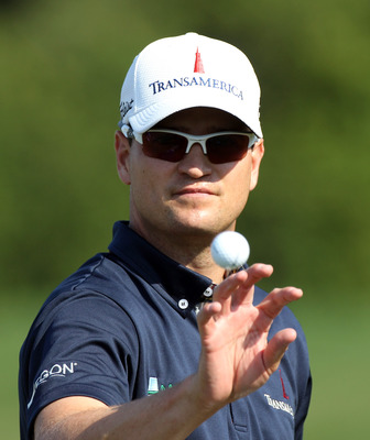 ORLANDO, FL - MARCH 27:  Zach Johnson catches a ball prior to the final round of the Arnold Palmer Invitational presented by MasterCard at the Bay Hill Club and Lodge on March 27, 2011 in Orlando, Florida.  (Photo by Sam Greenwood/Getty Images)