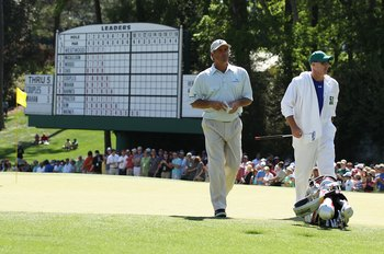 AUGUSTA, GA - APRIL 11:  Fred Couples during the final round of the 2010 Masters Tournament at Augusta National Golf Club on April 11, 2010 in Augusta, Georgia.  (Photo by Streeter Lecka/Getty Images for Golf Week)