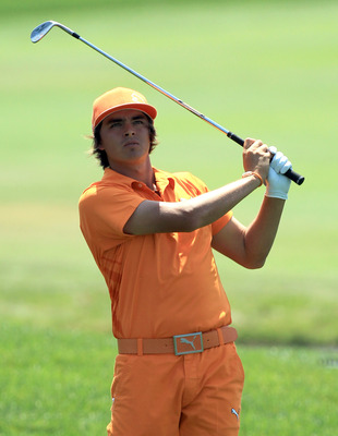 ORLANDO, FL - MARCH 27:  Rickie Fowler plays his second shot on the 1st hole during the final round of the 2011 Arnold Palmer Invitational presented by Mastercard at the Bay Hill Lodge and Country Club on March 27, 2011 in Orlando, Florida.  (Photo by Dav
