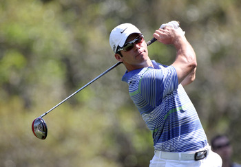 PALM HARBOR, FL - MARCH 18:  Paul Casey of England plays a shot on the 9th hole during the second round of the Transitions Championship at Innisbrook Resort and Golf Club on March 18, 2011 in Palm Harbor, Florida.  (Photo by Sam Greenwood/Getty Images)