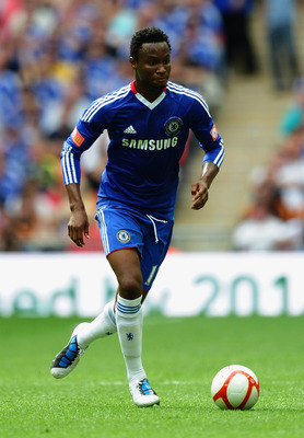 LONDON, ENGLAND - AUGUST 08:  Jon Obi Mikel of Chelsea in action during the FA Community Shield match between Chelsea and Manchester United at Wembley Stadium on August 8, 2010 in London, England.  (Photo by Laurence Griffiths/Getty Images)