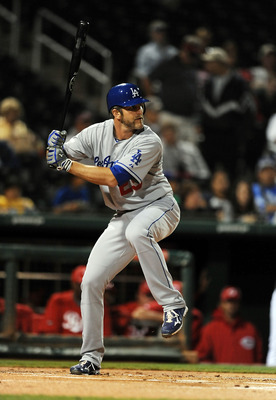 GOODYEAR, AZ - MARCH 03:  Casey Blake #23 of the Los Angeles Dodgers gets ready to swing the bat against the Cincinnati Reds at Goodyear Ballpark on March 3, 2011 in Goodyear, Arizona.  (Photo by Norm Hall/Getty Images)