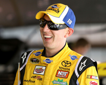 Kyle Busch finished in front of Jimmie Johnson for the first time at Martinsville last fall.