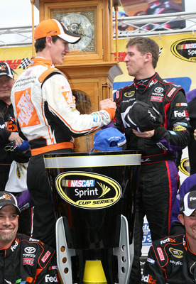 Logano beat everyone but Denny Hamlin at Martinsville last spring.