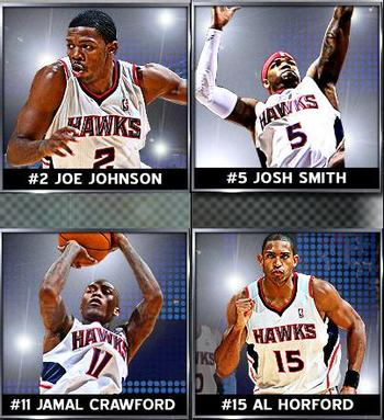 Atlanta Hawks Big 4 (Courtesy of NBA.com)