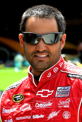 Juan Pablo Montoya will be all smiles if he can win at Martinsville this Sunday.