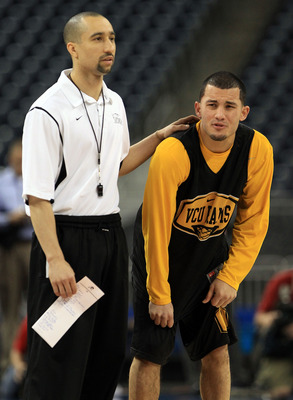 Shaka Smart and Joey Rodriguez