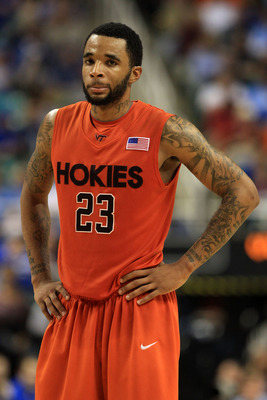 GREENSBORO, NC - MARCH 12:  Malcolm Delaney #23 of the Virginia Tech Hokies looks on during the second half against the Duke Blue Devils in the semifinals of the 2011 ACC men's basketball tournament at the Greensboro Coliseum on March 12, 2011 in Greensbo