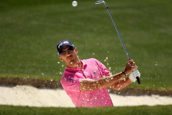 AUGUSTA, GA - APRIL 07:  Gregory Havret of France plays a bunker shot during the first round of the 2011 Masters Tournament at Augusta National Golf Club on April 7, 2011 in Augusta, Georgia.  (Photo by Andrew Redington/Getty Images)