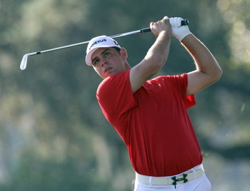 ORLANDO, FL - MARCH 25:  Gary Woodland  plays a shot on the 13th hole during the second round of the Bay Hill Invitational presented by MasterCard at the Bay Hill Club and Lodge on March 25, 2011 in Orlando, Florida.  (Photo by Sam Greenwood/Getty Images)