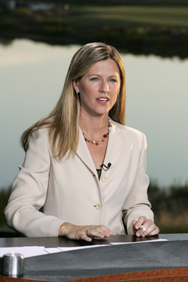 UNITED STATES - NOVEMBER 10:  Kelly Tilghman, of The Golf Channel, broadcasting during the first round of the Merrill Lynch Shootout at the Tiburon Golf Club in Naples, Florida on November 10, 2006.  (Photo by Michael Cohen/Getty Images)