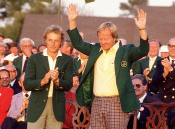 Nicklaus Celebrates 1986 Green Jacket