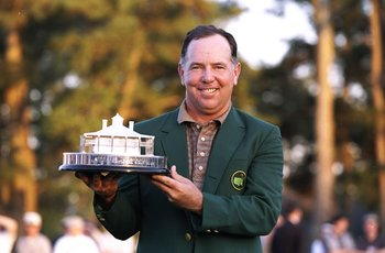 Mark O'Meara With His 1998 Green Jacket and Trophy