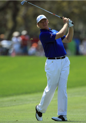 ORLANDO, FL - MARCH 24:  Ernie Els of South Africa plays his second shot at the 1st hole during the first round of the 2011 Arnold Palmer Invitational presented by Mastercard at the Bay Hill Lodge and Country Club on March 24, 2011 in Orlando, Florida.  (