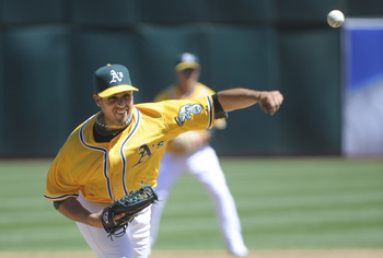 Gio Gonzalez pitched seven strong innings in the A's win on Sunday.