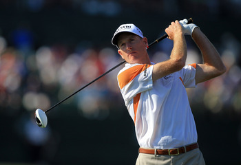 ORLANDO, FL - MARCH 25:  Jim Furyk watches his tee shot at the 16th hole during the second round of the 2011 Arnold Palmer Invitational presented by Mastercard at the Bay Hill Lodge and Country Club on March 25, 2011 in Orlando, Florida.  (Photo by David