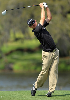 ORLANDO, FL - MARCH 27:  Justin Rose of England plays his tee shot on the 16th hole during the final round of the 2011 Arnold Palmer Invitational presented by Mastercard at the Bay Hill Lodge and Country Club on March 27, 2011 in Orlando, Florida.  (Photo