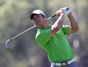 PALM HARBOR, FL - MARCH 17:  Paul Casey of England plays a shot on the 17th hole during the first round of the Transitions Championship at Innisbrook Resort and Golf Club on March 17, 2011 in Palm Harbor, Florida.  (Photo by Sam Greenwood/Getty Images)