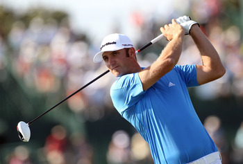 ORLANDO, FL - MARCH 24:  Dustin Johnson plays a shot on the 16th hole during the first round of the Arnold Palmer Invitational presented by MasterCard at the Bay Hill Club and Lodge on March 24, 2011 in Orlando, Florida.  (Photo by Sam Greenwood/Getty Ima