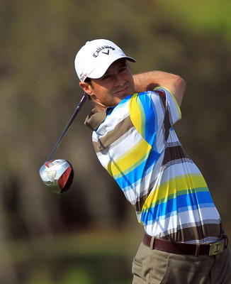 ORLANDO, FL - MARCH 27:  Trevor Immelman of South Africa plays his tee shot on the 16th hole during the final round of the 2011 Arnold Palmer Invitational presented by Mastercard at the Bay Hill Lodge and Country Club on March 27, 2011 in Orlando, Florida