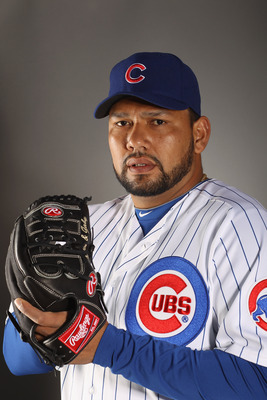 MESA, AZ - FEBRUARY 22:  Carlos Silva #52 of the Chicago Cubs poses for a portrait during media photo day at Finch Park on February 22, 2011 in Mesa, Arizona.  (Photo by Ezra Shaw/Getty Images)