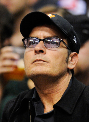 LOS ANGELES, CA - JANUARY 16:  Actor Charlie Sheen attends Cleveland Caveliers and  Los Angeles Clippers NBA basketball game at Staples Center on January 16, 2010 in Los Angeles, California. NOTE TO USER: User expressly acknowledges and agrees that, by do