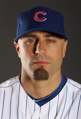 MESA, AZ - FEBRUARY 22:  Reed Johnson #5 of the Chicago Cubs poses for a portrait during media photo day at Finch Park on February 22, 2011 in Mesa, Arizona.  (Photo by Ezra Shaw/Getty Images)