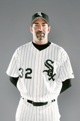 TUCSON, AZ - FEBRUARY 26:  Dustin Hermanson poses for a portrait during the Chicago White Sox Photo Day on February 26, 2006 at Tuscon Electric Park in Tucson, Arizona.  (Photo by Jonathan Ferrey/Getty Images)